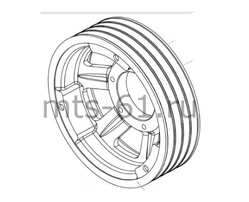 100.05.03.118А - Шкив диаметр 375