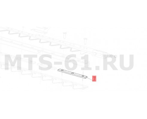 081.27.32.409 - Пластина режущего аппарата