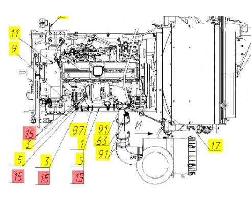 Жгут двигателя - 161.10.05.130Д
