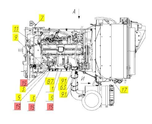 Жгут двигателя - 161.10.05.130Е