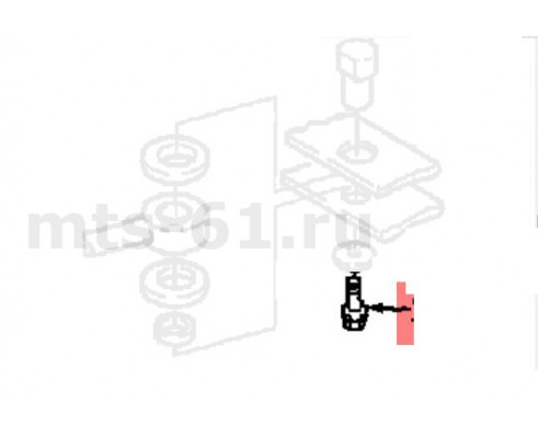 """106543 - Болт шестигран. 0.625nfx1.25""""spl"""
