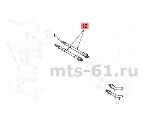 86017933 - Кабель - рычаг переключения передач в сборе, длина 1500мм, 5/16-24unf-2a typ