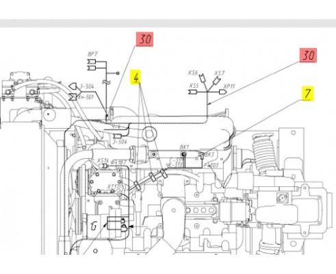 Жгут двигателя - 142.10.25.130Б