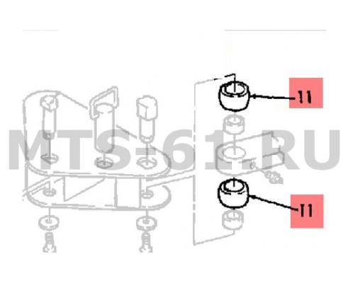 86001127 - Уплотнитель тяги передней 55*100*35