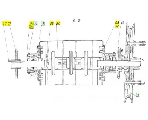 Вал верхний - 54-1-4-13Б