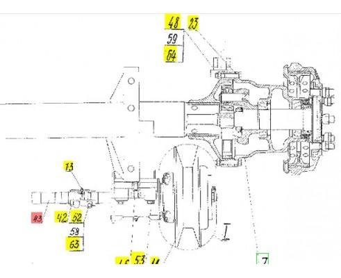 Вал приводной - 54-62252
