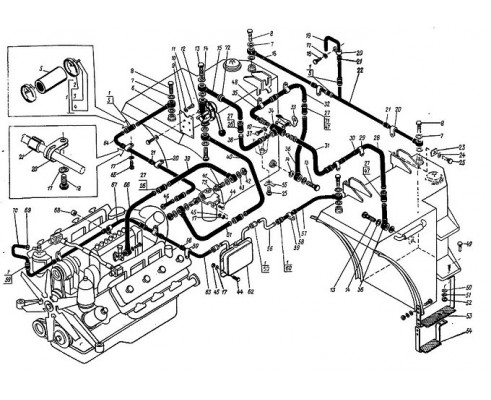 Труба 700А.11.04.050-1 в сборе (система питания двигателя ЯМЗ-240)