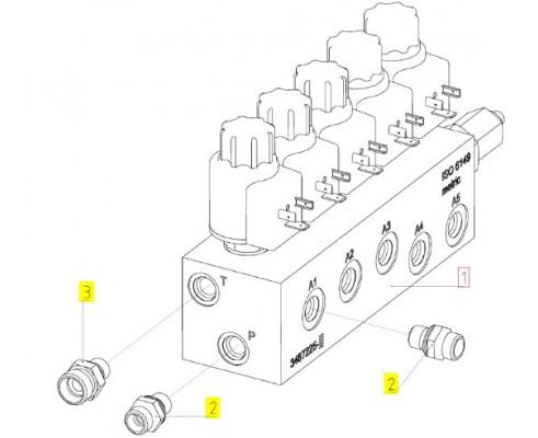 Блок гидравлический - 3487214