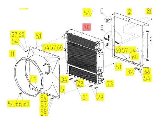 Блок радиаторов - 3603382