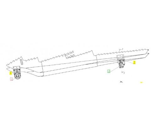Вал коленчатый ведомый - А54-2-11-3Б
