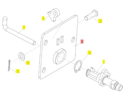 Механизм замка - МРУ-1.09.500