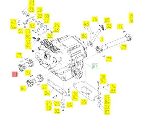 Вал карданный - 86037214