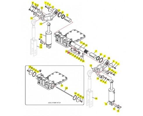 86011325 Кронштейн для крепления потенциометра