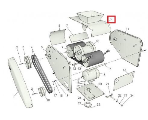 МЗС 90.02.150А Крышка верхняя триммера