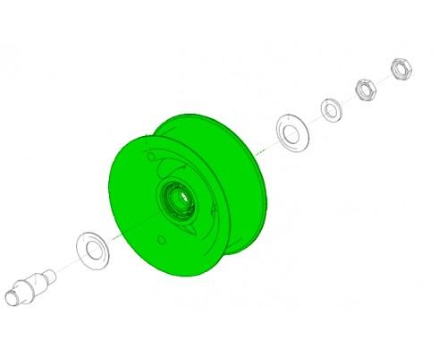 Шкив натяжной d 200 мм с подшипником для ремня 4/нв