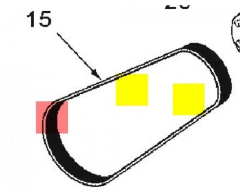 86031366 - Ремень двигателя v-образный