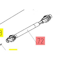 01.025.2000-12.44 - Вал карданный выгрузного шнека Вектор