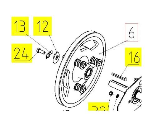 10.01.54.160 - Механизм предохранительный в сборе колосового элеватора