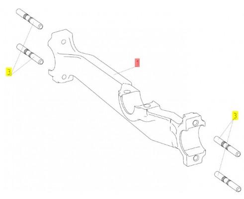 44Б-20036В - Рычаг левый привода очистки