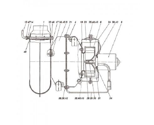 Отопитель кабины 150.67.041А (12В и 24В)