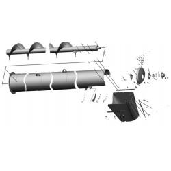 Шнек выгрузной в сборе l-4615 мм