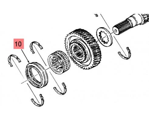 Втулка переключателя передач 86019030