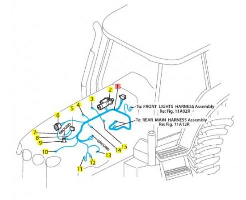 Жгут двигателя 86034173