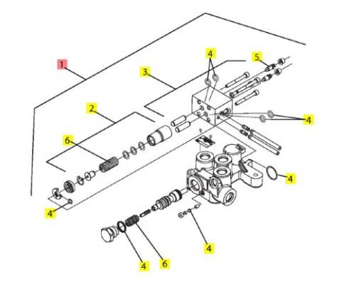Клапан торомзов прицепа 86035153