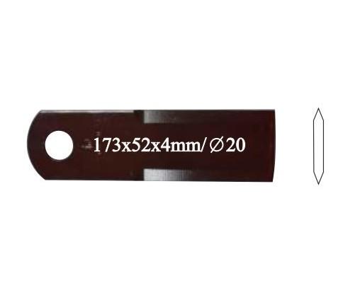 Нож соломоизмельчителя, 736 872.0, гладкий, 4 мм, 20 шт. в упаковке