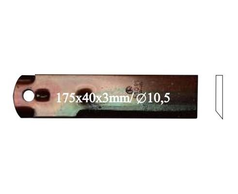 Нож измельчителя противореж.(1 отв) (Z75874/40151/2TN), 2388eu