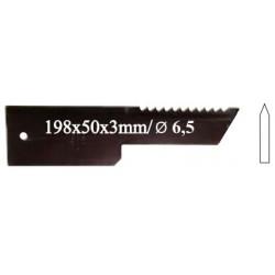 Нож противорежущий, 28 09 Z, зубчатый, 3мм, 25шт. в упак.