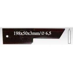 Нож противорежущий, 28 09, гладкий, 3 мм, 25 шт. в упак.