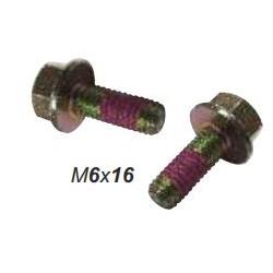 Болт М6х16, DIN 6921, самоконтрящийся