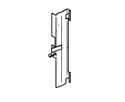 Дверца радиатора левая - 86041687