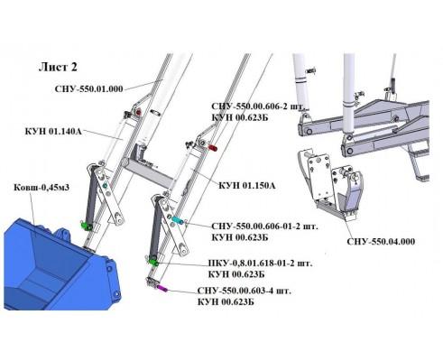 Упаковка комплекта пальцев на СНУ 550-0