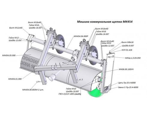 Упаковка переоборудования  МК-454 на МКП