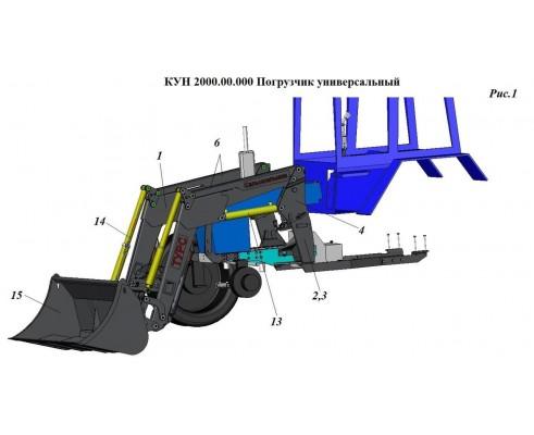 Упаковка переоборудования КУН 2000-0Д с МТЗ-82 на МТЗ-1221