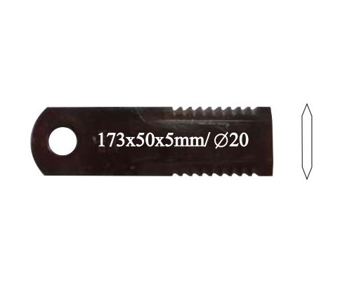 Нож соломоизмельчителя 5,0 mm - 52945