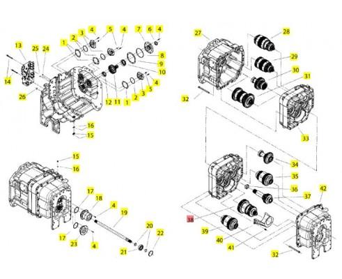 Вал/муфта 7 ой передачи в сборе - 86059831