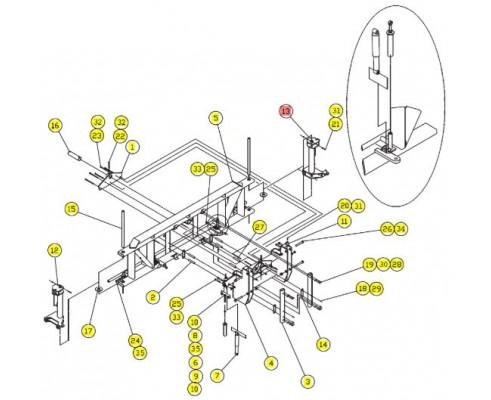 Цилиндр поворотный - SX012016BSRV
