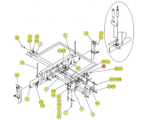 Прокладка балки - SX012118SRV