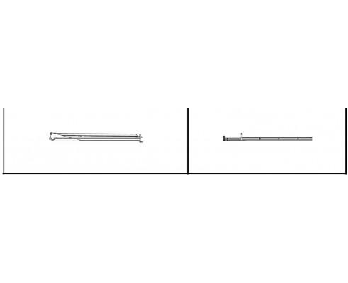 Штанга левая крайняя 5' 6 (квадрат) - SX012116