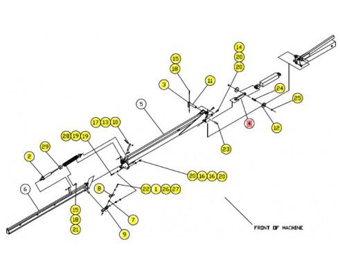 Пластина гидроцилиндра - SX012690BSRV