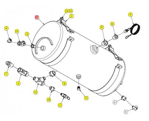 Ресивер воздушный 5 галлонов - SX015394