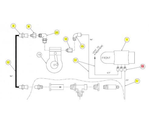 Коннектор 1/4tubex1/8mnpt - SX015403