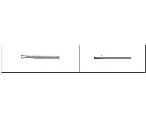 Штанга правая вторичная 1' 9 (квадрат) - SX015759
