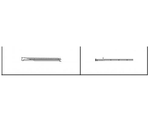 Штанга левая вторичная 1' 9 (квадрат) - SX015760