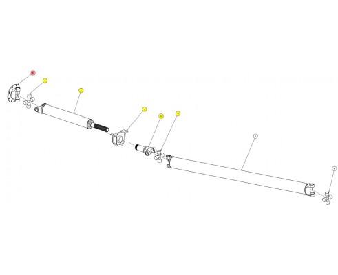 Основание карданного вала - SX016103SP