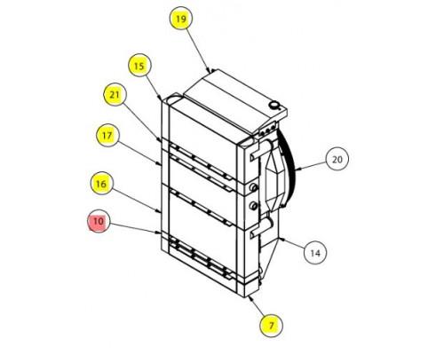 Радиатор масляный - SX016121SP
