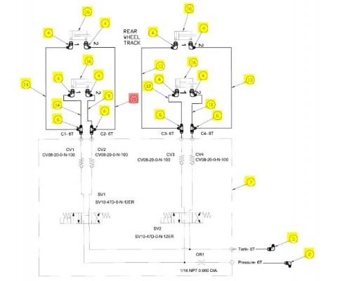 Рукав гидравлический -06fjx-061 - SX016618